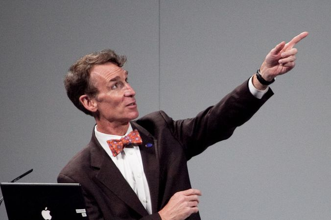 Bill Nye is excited for his epic rap battle of history.