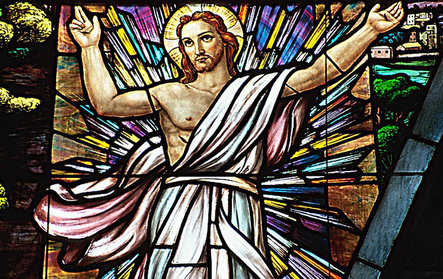 Jesus, Resurrection, Stained Glass