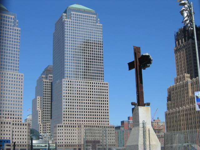 The Ground Zero Cross. (Photo by Urban, via Wikimedia commons.)